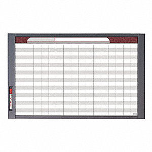 "Dry Erase Board, Total Erase® Writing Surface, 47-1/2"" Width, 35"" Height"