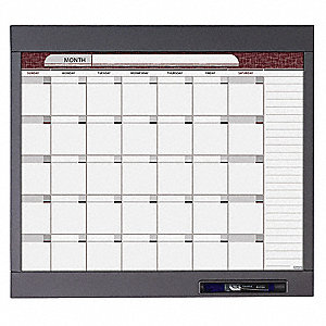 "Dry Erase Board, Total Erase® Writing Surface, 23"" Width, 20"" Height"