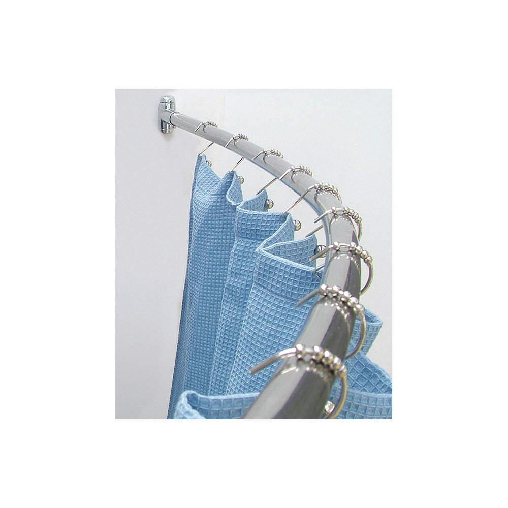 WINGITS Curved Shower Rod,57-3/4In,6In Proj,PK6 - 6RGJ1|WCRBS5-6SP ...