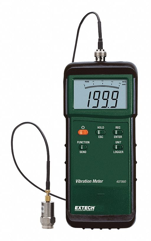 Heavy Duty Vibration Meter w/NIST Cert