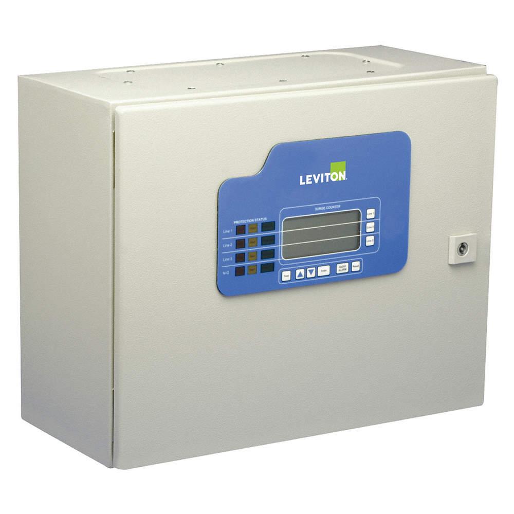 LEVITON 3 Phase Surge Protection Device, 120/208VAC Wye - 6RHK3 ...