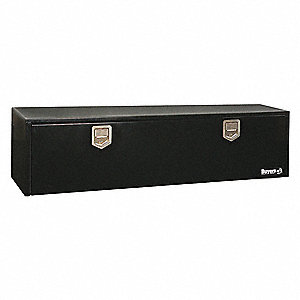 Steel Underbody Truck Box, Black, Single, 9.0 cu. ft.