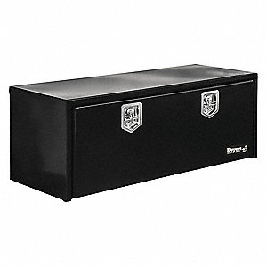 Steel Underbody Truck Box, Black, Double, 12.0 cu. ft.