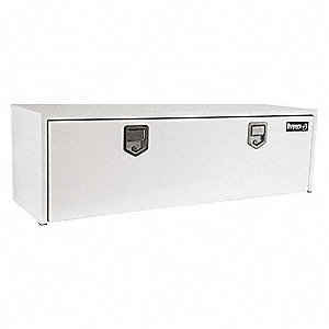 Steel Underbody Truck Box, White, Double, 9.0 cu. ft.