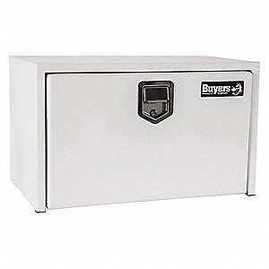 Steel Underbody Truck Box, White, Single, 3.6 cu. ft.
