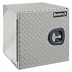 Aluminum Diamond Plate Underbody Truck Box Silver Single 3 3 Cu Ft