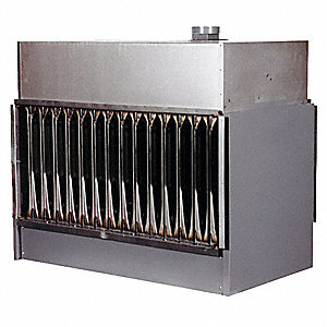 "Indoor Duct Furnace, NG, BtuH Output 160,000, 4938 cfm, Gas Connection 1/2"", 120VAC, 1.9A"