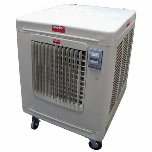 Dayton Portable Evaporative Cooler Blower Wheel Blade Diameter Average Coverage Area 1000 To 1400 Sq Ft 6rjz3 6rjz3 Grainger