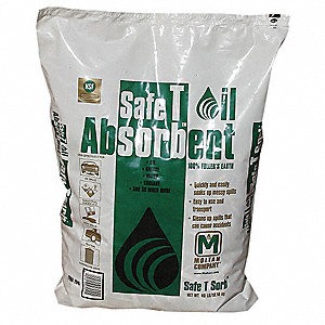 Clay Montmorillonite Universal Absorbent, Container Size: 40 lb., Fluids Absorbed: Water, Oil, Greas