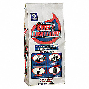 Clay Montmorillonite Universal Absorbent, Container Size: 8 lb., Fluids Absorbed: Water, Oil, Grease