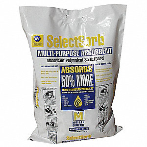 Diatomaceous Earth Universal Absorbent, Container Size: 20 lb., Fluids Absorbed: Water, Oil, Grease,