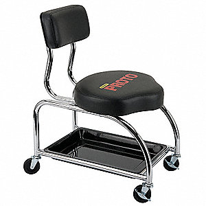 Tool Trolley Stool,With Backrest,300 lb.
