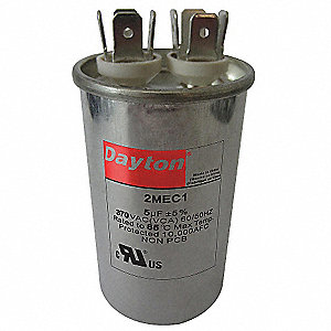 Round Motor Run Capacitor,60 Microfarad Rating,440VAC Voltage