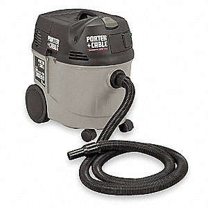 10 gal. Industrial/Commercial Wet/Dry Vacuum, 1-1/2 HP Peak HP, 120 Voltage