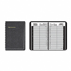 Planner,Daily,4-7/8 x 8in,Black