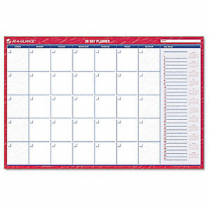 Wall Calendar, Monthly, 36 x 24 In