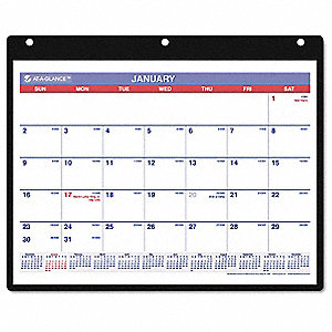 Desk/Wall Calendar,Monthly,11 x 8-1/4 In