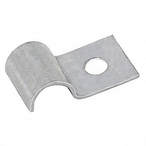 Half Clamp,Galvanized,Dia 3/8 In,PK50