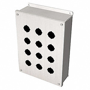 Pushbutton Enclosure, 4X, 12, 13 NEMA Rating, Number of Columns: 3