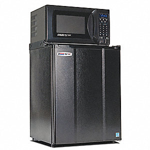 Refrigerator and Microwave,2.4 cu ft,Blk