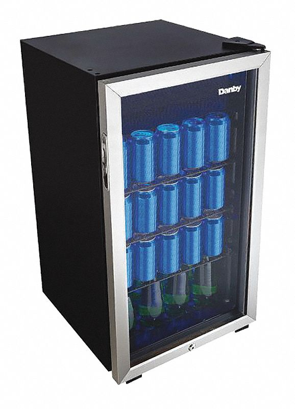 Beverage Center, Residential, Black, 17 7/8 in Overall Width, 3.1 cu ft Refrigerator Capacity