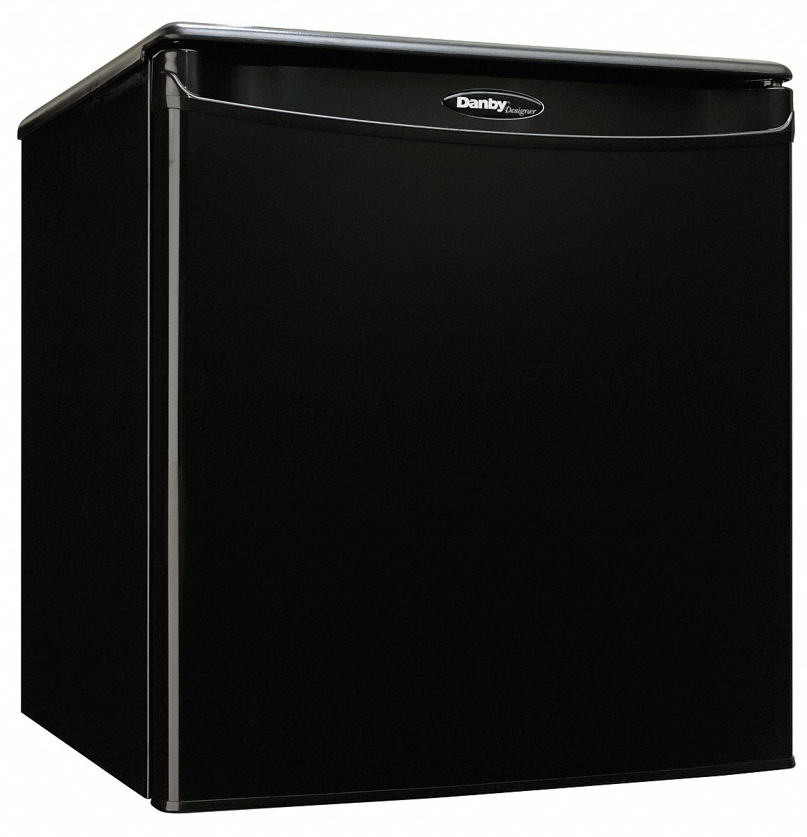 Refrigerator, Residential, Black, 17 5/8 in Overall Width, 1.7 cu ft Refrigerator Capacity