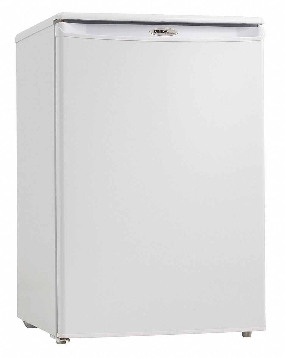 Compact Refrigerator with Freezer Section, Residential, White, 20 5/8 in Overall Width