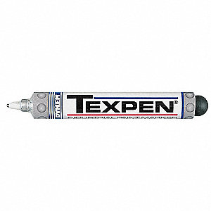Industrial Paint Marker,Fine Tip,White