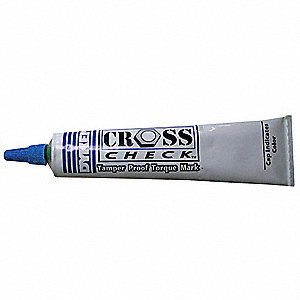Permanent Tamperproof Tube Marker with Medium Tip Size, Blue