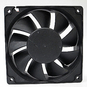 "Square Waterproof Axial Fan, 4-11/16"" Width, 4-11/16"" Height, 4-11/16"" Fan Dia., 12VDC Voltage"