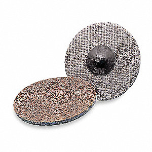 "1-1/2"" Non-Woven Quick Change Disc, TR Roll-On/Off Type 3, Very Fine, Aluminum Oxide, 1 EA"