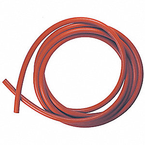 "Round Silicone Rubber Cord Stock, 3/16"" Dia., 50 Ft., 70 Durometer, Red"