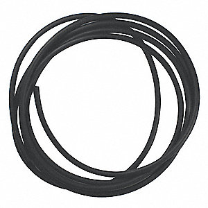 Round Viton® Rubber Cord Stock, 5.7mm Dia., 100 Ft., 75 Durometer, Black