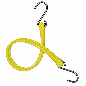 BUNGEE STRAP,S-HOOK,36 IN.L,YELLOW
