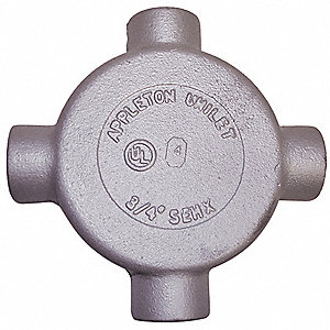 "X-Style 3/4"" Conduit Outlet Body, Threaded Iron, 18.0 cu. in."