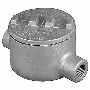 "C-Style 1/2"" Conduit Outlet Body, Threaded Copper Free Aluminum, 18.0 cu. in."
