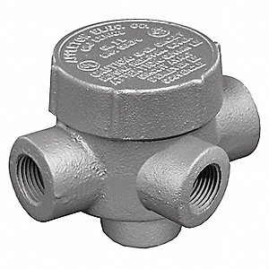 "TA-Style 3/4"" Conduit Outlet Body, Threaded Iron, 7.3 cu. in."