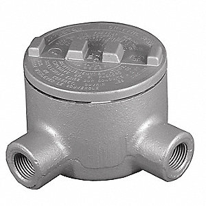 "L-Style 2"" Conduit Outlet Body, Threaded Copper Free Aluminum, 76.0 cu. in."