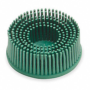 "2"" Tapered Bristle Disc, Quick Change Mount, 5/8"" Trim Length, 50 Grit, Roll-On/Off (TR), 1 EA"