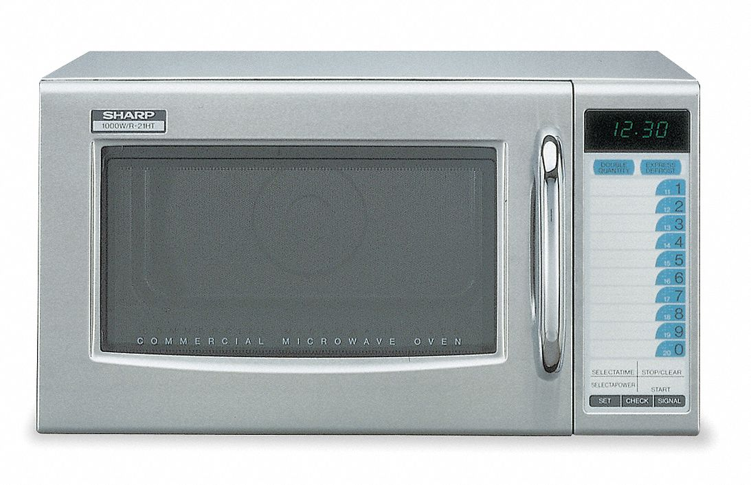 Stainless Steel Professional Microwave Oven, 0.95 cu ft, 120 V