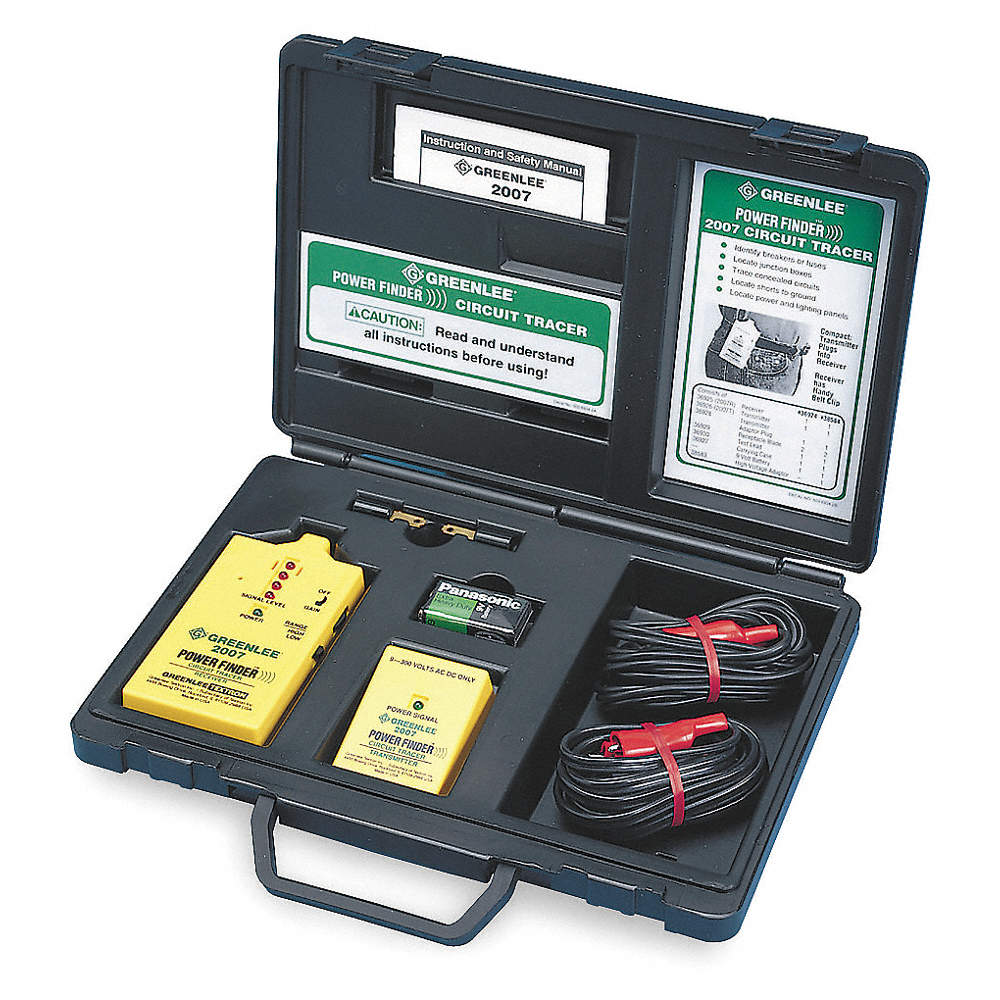 GREENLEE Circuit Tracing Kit,9 to 300VAC,Enrgzd - 6T095|2007 - Grainger