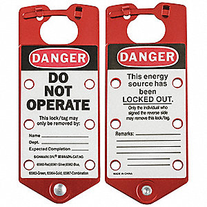 Labeled Lockout Hasp, Snap-On Lockout Hasp Style, Aluminum