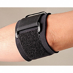 Elbow Support,XL,Black,Single Strap