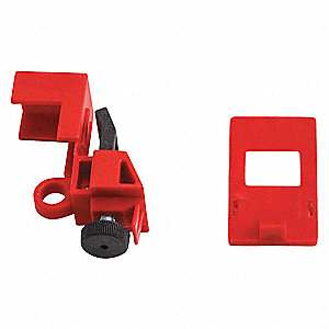 Single Pole Breaker Lockout, 120/277, Clamp-On Lockout Type, Polypropylene and Nylon