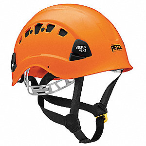 Orange Rescue Helmet, Shell Material: ABS, 6-Point Mesh Liner Suspension, Fits Hat Size: 6-3/8 to 7-
