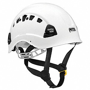 White Rescue Helmet, Shell Material: ABS, 6-Point Mesh Liner Suspension, Fits Hat Size: 6-3/8 to 7-7