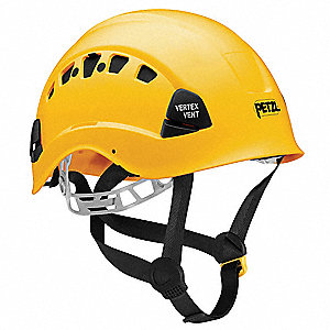 Yellow Rescue Helmet, Shell Material: ABS, 6-Point Mesh Liner Suspension, Fits Hat Size: 6-3/8 to 7-