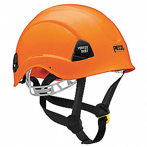 Orange Rescue Helmet, Shell Material: ABS, 6-Point Webbing Suspension, Fits Hat Size: 6-3/8 to 7-7/8