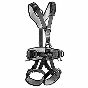 S/M General Industry Full Body Harness, 5000 lb. Tensile Strength, 310 lb. Weight Capacity, Black/Ye