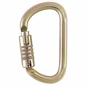 Carabiner,Steel,Triple Action Auto Lock